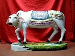 White Iskcon Cow (Nanda) Statue