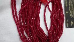 Red Jade Cut Beads