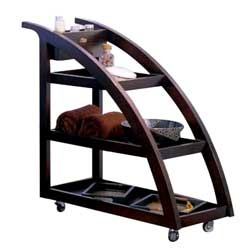 Spa Wooden Trolley