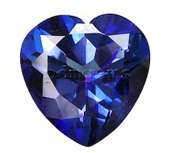 Tanzanite Faceted Heart Gemstone