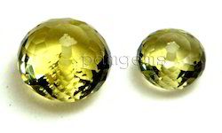 Lemon Quartz Faceted Sphere Drill Fancy Gemstone