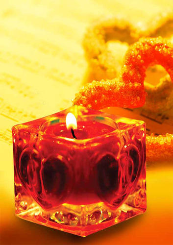 Ceramic Glass Candle
