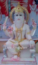 Marble Statue of Vishwakarma