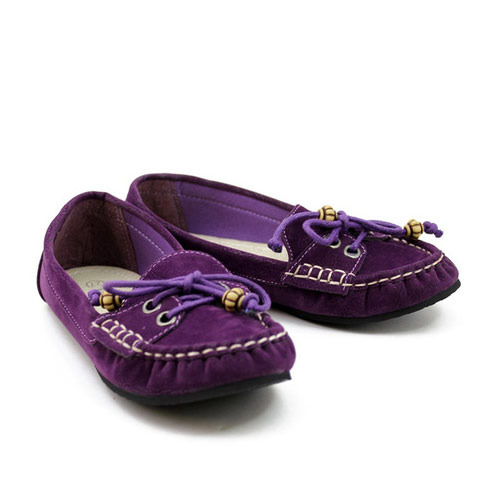 f62d3c198ca63 Purple Girls Loafer Shoes