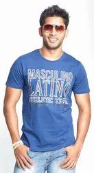 Men Blue Mens Designer T Shirt, Size: XL