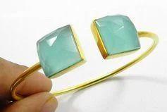 Aqua Chalcedony Gemstone Bracelet
