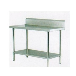 Stainless Steel Work Table with Splash Back