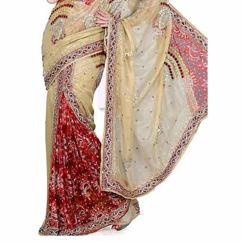 Hand Work Embroidered Saree At Rs 500 Piece