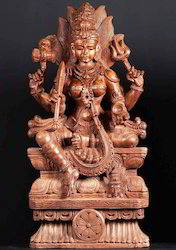 Wooden Statue of Maha Durga Mata