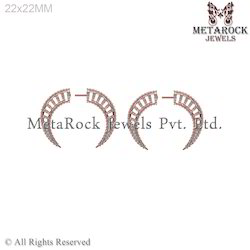 New Design Diamond Rose Gold Earring Jewelry