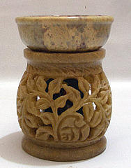 Natural Soapstone Stone Aroma Lamp, Model Name/Number: HHD35BEL