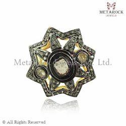 Rose Cut Diamond Star Shape Ring