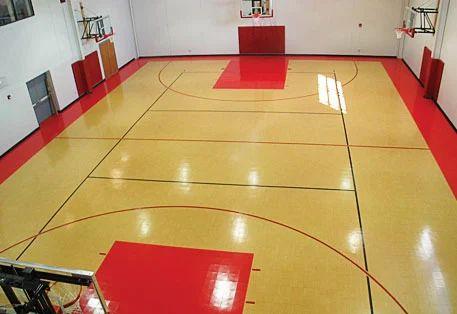 Indoor Brown Basketball Court Sports Flooring Services