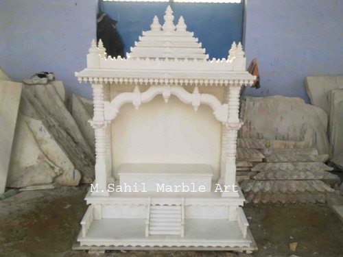 Unique home mandir m sahil marble art manufacturer in bye pass road makrana id 4996983397 for Marble temple designs for home