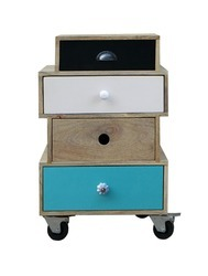 4 Drawer Besider (with Wheels)