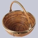 Round Deep Cane Basket, Size/dimension: 10 Inches