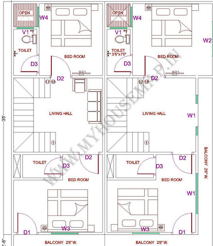 Indian house map drawing images for Indian house floor plans free