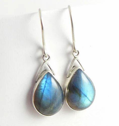 Dangle Earrings Labradorite Sterling Silver Be