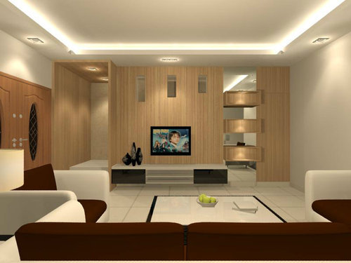 Living hall interior design office interior designers in - Interior design in hall ideas ...