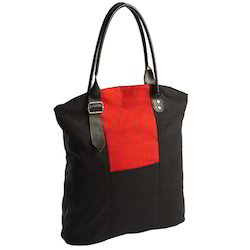 Canvas Bag with Leather Handle