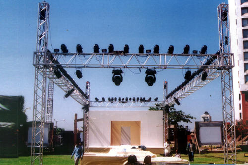 stage lighting truss aluminium alloy trusses shiv industries mumbai id 4750640673. Black Bedroom Furniture Sets. Home Design Ideas