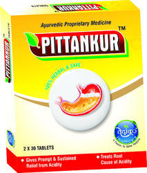 Pittankur Tablets Acidity Medicine, Dose: 2 Tablets Before Meal, Packaging Type: Strip