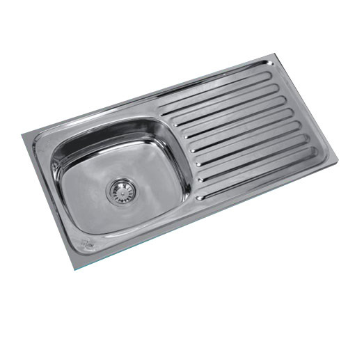Navkar SS Single Bowl Single Drain Kitchen Sink