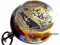 Antique Push Button Compass