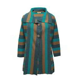 Pure Color Woollen Coat
