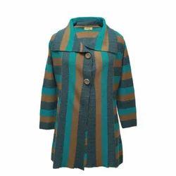 Pure Color Woollen Coat