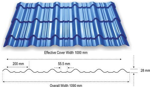 Roofing Sheets Durashine Steel Tile Roof Malpani