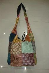 Embroidered Cotton Sari Bag