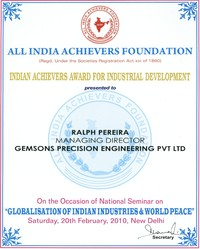 Certificate For Indian Achiever For Industrial Development