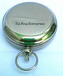 Brass Push Button Compass