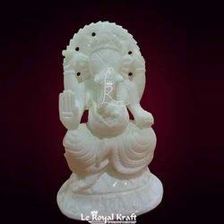 Alabastor Ganesh Idol