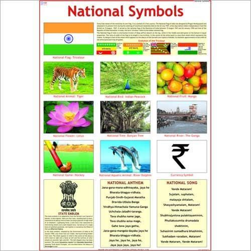 National Symbols Teaching Charts At Rs 150 Pieces Shikshan Ke