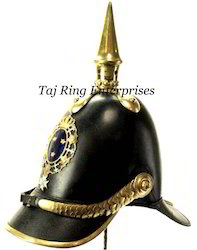 Leather Brass Helmet