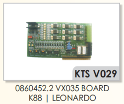 VAMATEX K88,LEONARDO 0860452.2 VX035 Board