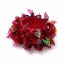 Red Vm Handicraft Beaded Napkin Ring, Size: 2 Inch