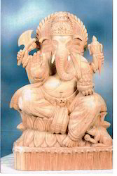 Carved Ganesh Statue
