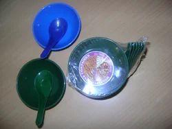 Multicolor Plastic Soup Bowl Set of 6 Pcs