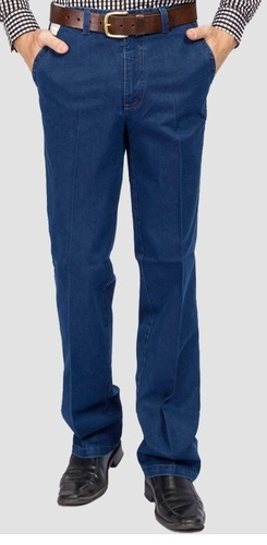 Mens Semi Formal Jeans प र ष क ल ए स म