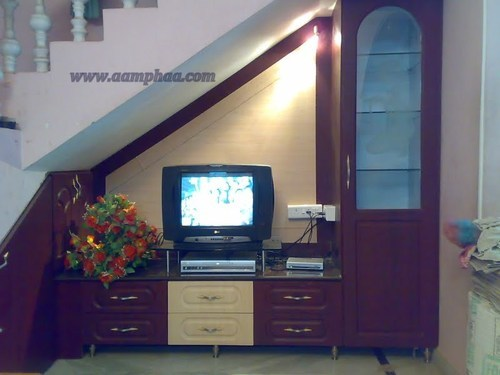 Before Box Room Cupboard Over Stairs: Cabinet Under Staircase Design TV Unit At Rs 27000 /piece