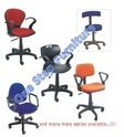 Blue Leather Cheapest Revolving Chair, Size: Standard