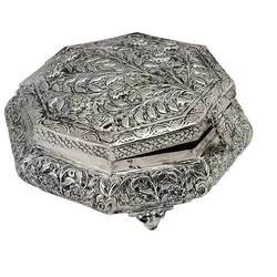 Silver Plated Metal Dryfruit Box