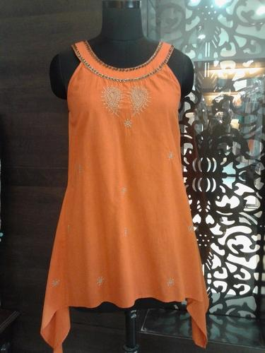 Ladies Cotton Round Neck Tunic