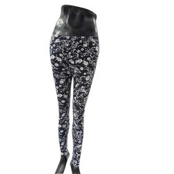 Black Printed Jeggings