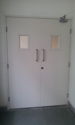 Steel Fire Rated Double Door With Vision Panel