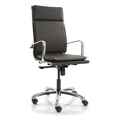 High Back Revolving Office Chair Double Cushion Fab
