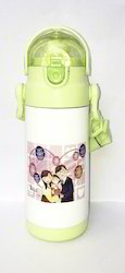 Green And Pink 18 Hours Hot And Cold Dali 400 Green Water Bottle S S, For School And Sports